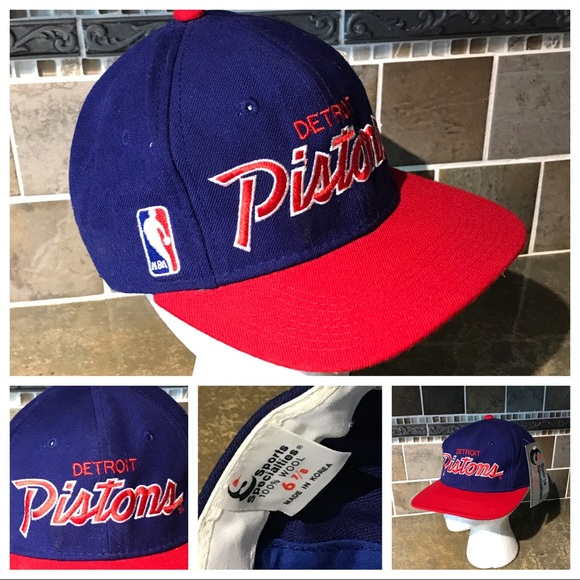 a9bb7196618 Vintage 90s Detroit Pistons Deadstock Hat A3302. NWT. sports specialties